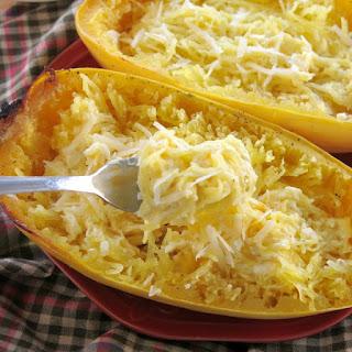 Spaghetti Squash Alfredo - Just 5 Ingredients