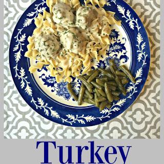 Turkey Meatballs with Creamy Gravy.