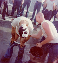 Photo: 1976 Polywog Day. Polywog greasing goodnatured BT Shellback