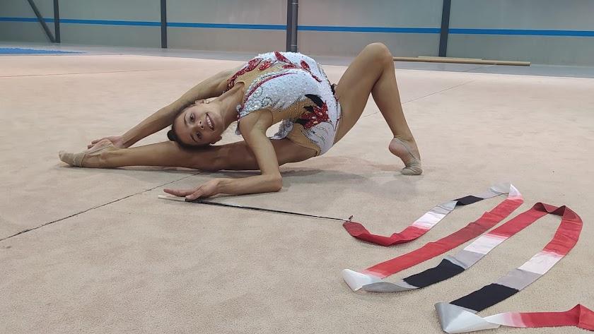 La gimnasta Ainoa Soler del Club Diamonds de Pulpí.