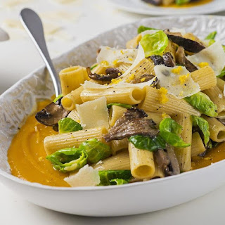 Rigatoni with Mushrooms and Butternut Squash
