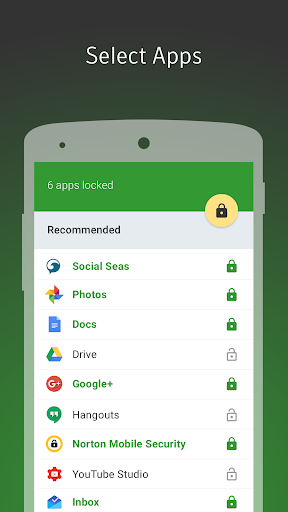 Norton App Lock 1.3.0.332 screenshots 1