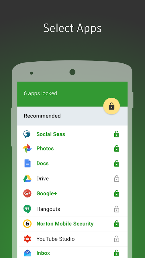 Norton App Lock- screenshot