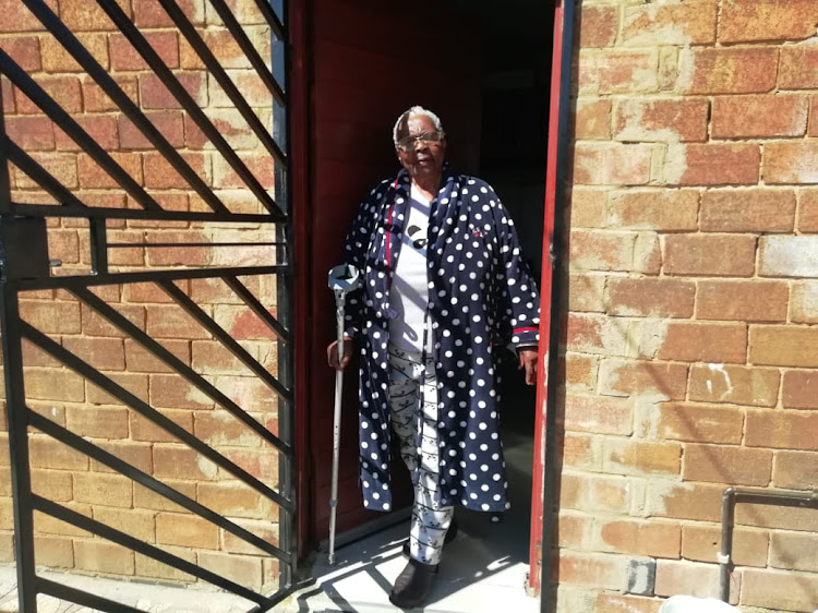 Soweto pensioner Fikile Maduna, 71, cast her ballot at home during the May 6-7 special votes process ahead of general elections on May 8.