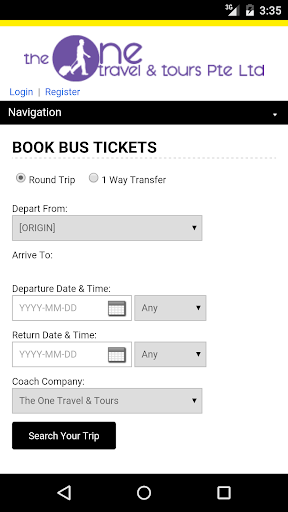 The One Travel Bus Ticket