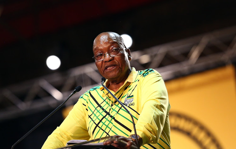 ANC President Jacob Zuma addresses delegates at the 54th ANC National Conference taking place in Nasrac.
