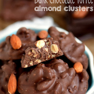 Dark Chocolate Toffee Almond Clusters
