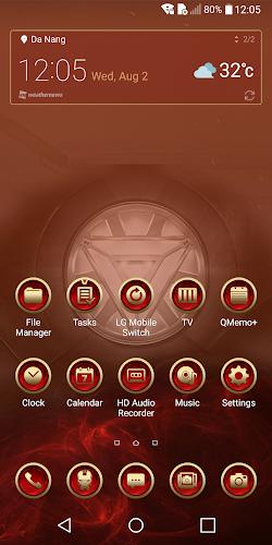 Download Red Iron Man Theme for LG V30 V20 G6 G5 APK latest version