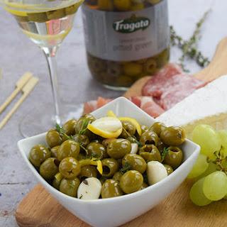 Gin Marinated Olives.