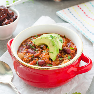 30-Minute Three Bean Chipotle Quinoa Chili