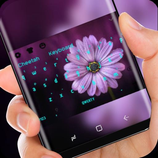 Flower Keyboard Purple Sunflower