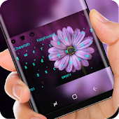Flower Keyboard Purple Sunflower