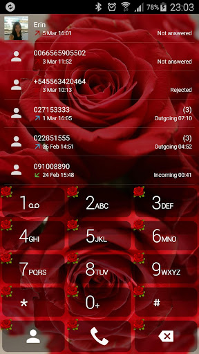 Theme for ExDialer Love Rose