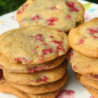 Raspberry White Chocolate Chip Cookies.