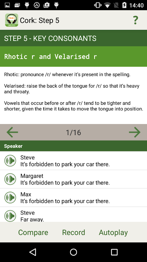 Real Accent App: CelticNations- screenshot