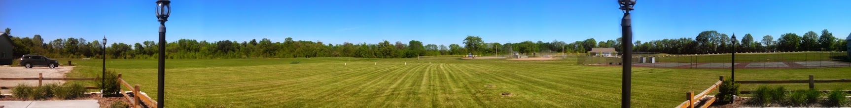 Photo: Panorama looking out from the clubhouse deck