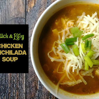 Quick & Easy Chicken Enchilada Soup.