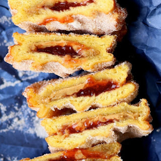 Easy PB+J Sandwich Donuts