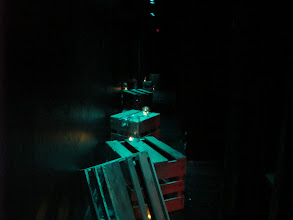 Photo: The Salvage Company's production of Whales & Souls by Andrew Kramer at The Flea Theatre, TriBeCa, NYC. Directed by Chris Roe, Lighting Design by Marciel Irene Greene, Set Design by Liz Blessing.