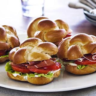Prosciutto, Lettuce and Tomato Sandwiches