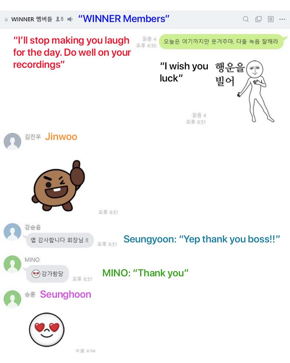 winner members jinwoo bts emoji
