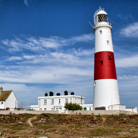 Portland Bill Lighthouse (UK) by Gianluca Presto - Buildings & Architecture Public & Historical ( sky, lighthouse, united kingdom, buildings, portland bill, travel, architecture )