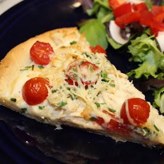 White Chicken Pizza.