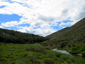 Photo: Looking upstream from the trailhead