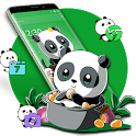 Cute Anime Green Panda Theme icon