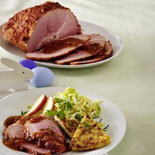 Glazed Ham with Potato Rösti.
