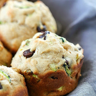 Healthy Chocolate Chip Zucchini Muffins.