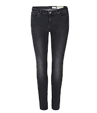 Photo: Raven Pipe Skinny Jeans>>  UK>http://bit.ly/OMO0uy US>http://bit.ly/MhAqBZ  The Raven Pipe Skinny Jeans are a low rise, skinny fit jean. Made using European sourced stretch indigo denim with a black over dye and a worn in wash. The Raven Pipe Skinny Jeans feature a laundered leather patch and AllSaints matt black metalwork, new for Autumn 2012.