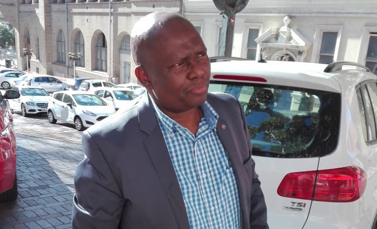 Newly appointed mayor Mongameli Bobani outside City Hall in Port Elizabeth on Tuesday 28 August, 2018