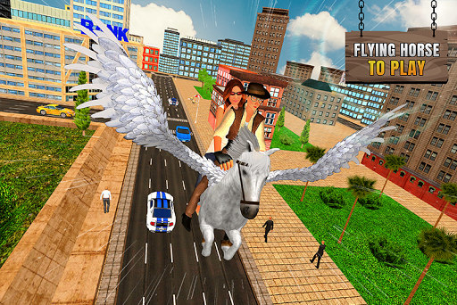 Code Triche Flying Horse Taxi Transport en ville APK MOD (Astuce) screenshots 2