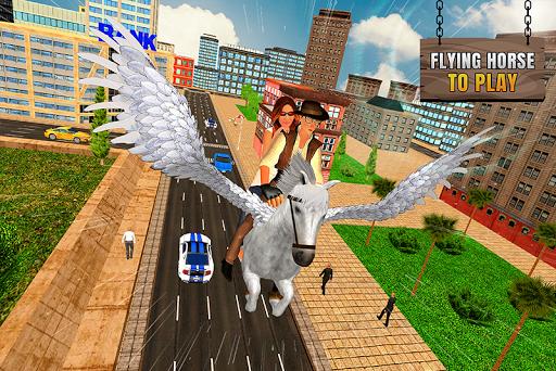 Flying Horse Taxi Transport en ville  captures d'u00e9cran 2
