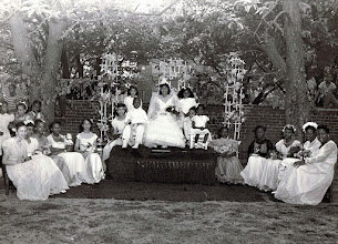 Photo: May Procession Court_Joan Savoy-May Queen_St Cyprian Parish