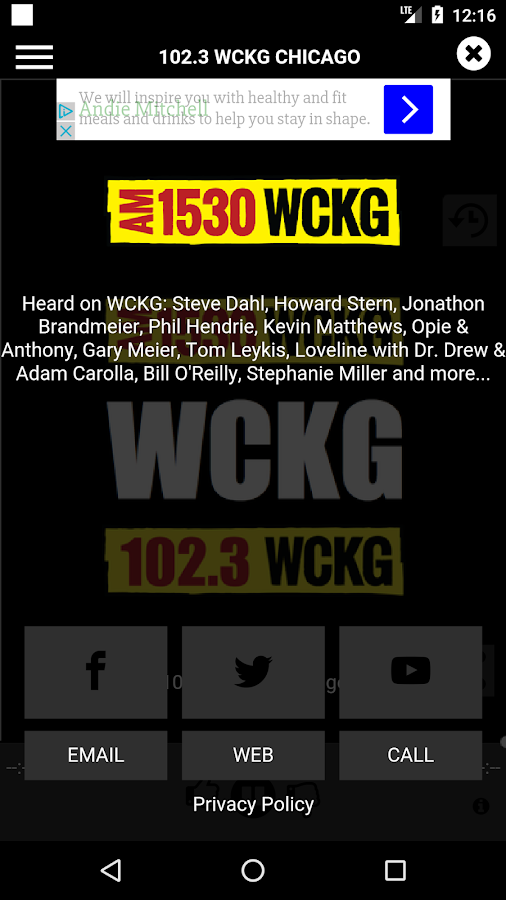 WCKG Chicago 102.3 FM- screenshot
