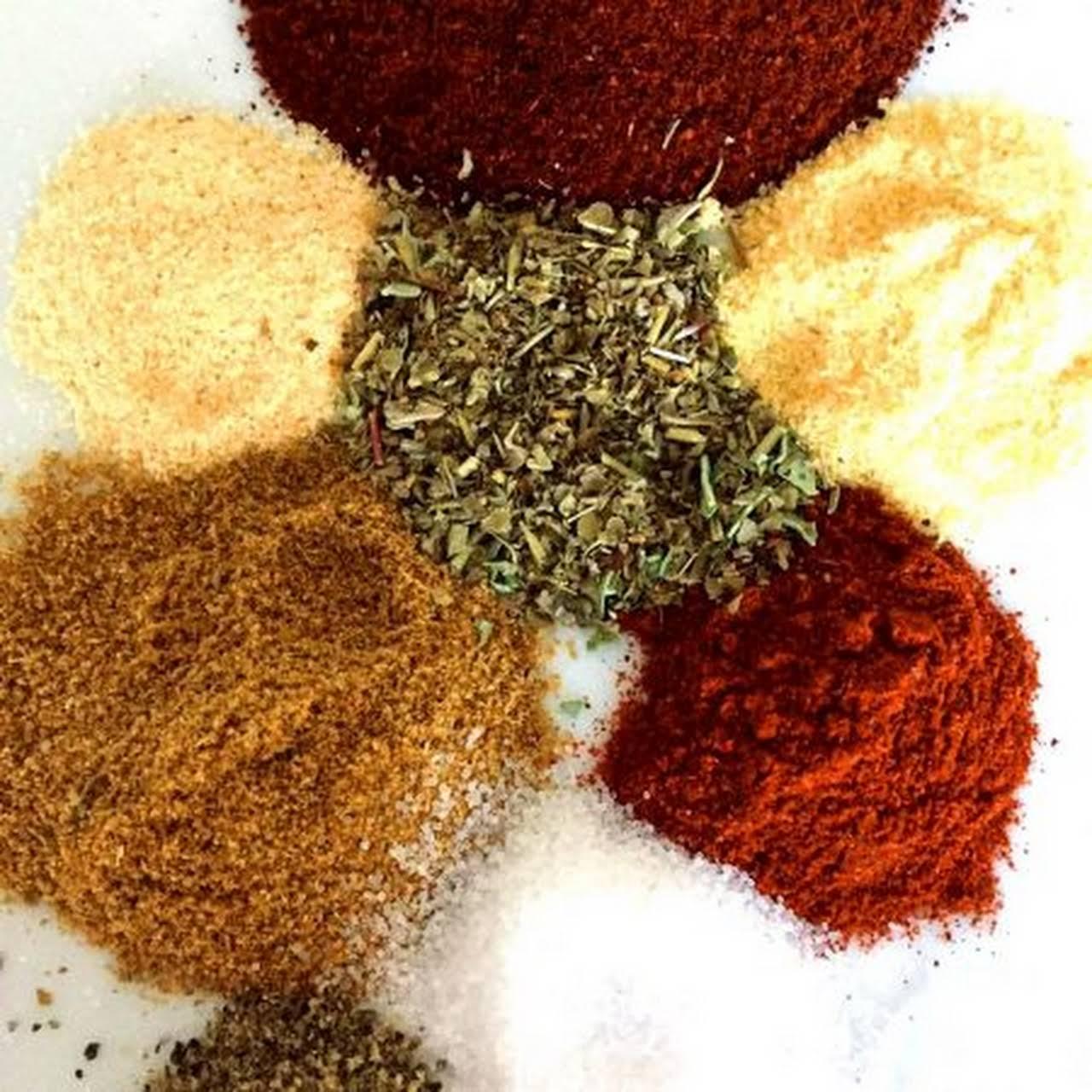 Homemade Taco Seasoning Mexican Spice  mixture combination
