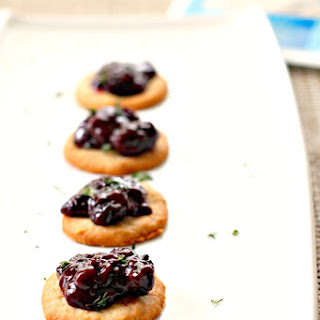 Blue Cheese Wafers with Blackberry Compote #BluesdayTuesday