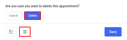 Amelia Online Booking System - Delete Appointment