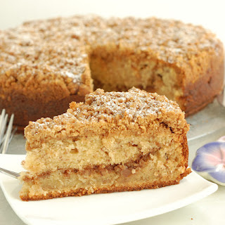 Banana Coffee Cake with Walnut Streusel