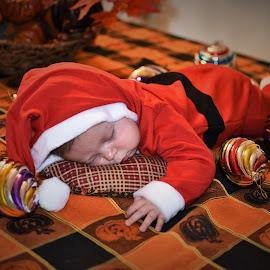 Little Santa by Maria Epperhart - Public Holidays Christmas ( red, celebration, baby, christmas, holiday, santa,  )