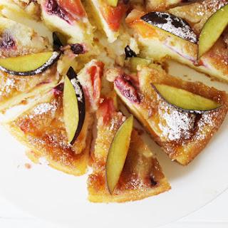 Plum & Nectarine Skillet Cake.