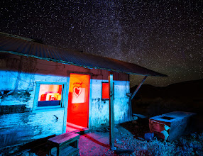 Photo: Home Is Where The Heart Is  Our first night in Death Valley we drove out to do some light painting at this abandoned mine site where the living quarters are still standing. The night sky was brilliant and the site was the perfect spot to play with the lights. While +Brian Matiashpainted the outside of the home I was on the inside painting with the red light. +Amy Heidenand +Ricardo Lagoswere behind us working on their own projects.  This is a single exposure edited 100% in Lightroom.  Exposure: 30 sec @ f / 2.8 ISO: 1000 Nikon D600 courtesy of +BorrowLenses.com Nikon 14-24mm f / 2.8 at 14mm also from BorrowLenses  #blog