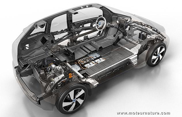 Vue moteur BMW i3