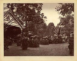 Photo: Primeira Exposição Hortícula de Petrópolis, organizada pela Princesa Isabel na Praça da Confluência, aonde hoje está o Palácio de Cristal. Foto de 2 de fevereiro de 1875