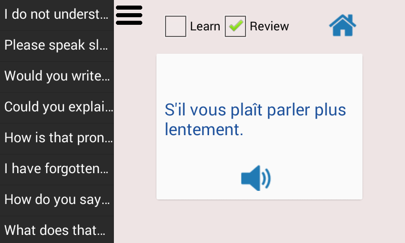 Learn French Language Pro- screenshot