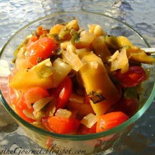 Sliced Pork with Warm Mango Salsa!