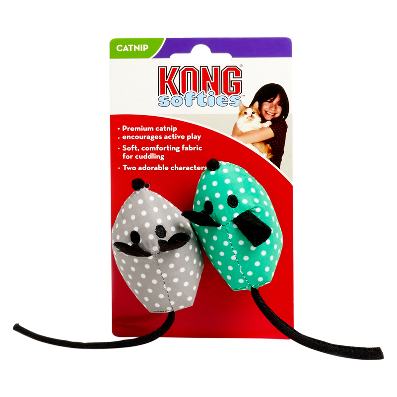 Kong Plush Mouse Cat Toy with Catnip