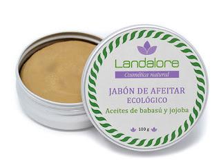 Jabón afeitar natural vegano Landalore
